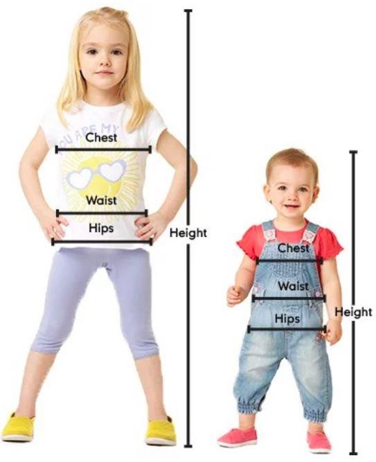 دليل مقاسات mothercare للاطفال